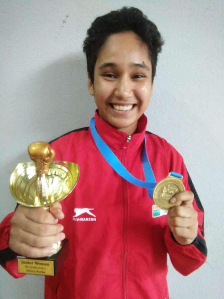 Arshi Khanam (Rajasthan) 57 kg gold