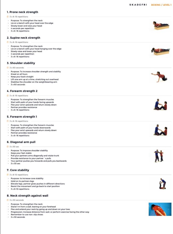Exercises to avoid injuries in boxing