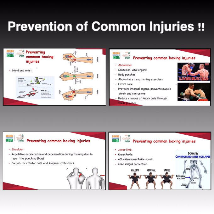 Prevention of common injuries in boxing