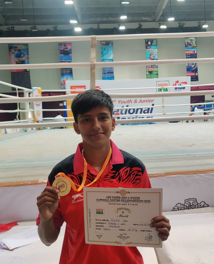 7) Nivedita Karki of Uttarakhand stunned th reigning World Youth champion Gitika 3-2 in the final of 4th Youth National Boxing Championships in Sonipat on Friday (1)